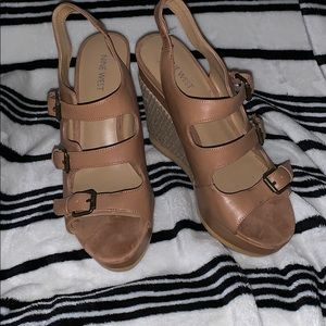 Size 9 1/2 Nine West Wedges